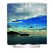 Evening In Paradise Panoramic Shower Curtain