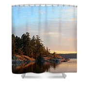 Evening In Smuggler Cove Shower Curtain