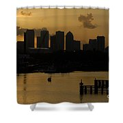 Evening In Tampa Shower Curtain