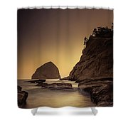 Evening In The Cove Shower Curtain