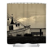 Evening In The Harbor Shower Curtain