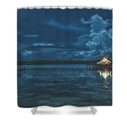 Evening In The Lagoon Shower Curtain