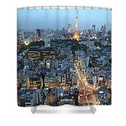 evening in Tokyo Shower Curtain