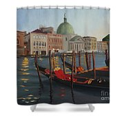 Evening In Venice Shower Curtain
