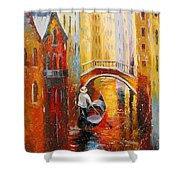 Evening In Venice Shower Curtain