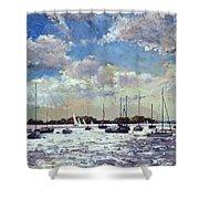 Evening Light - Gulf Of Morbihan Shower Curtain