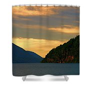 Evening Light At Lake Crescent Shower Curtain
