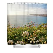 Evening Light In Cornwall Shower Curtain
