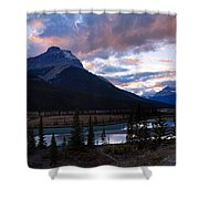 Evening Light In The Mountains Shower Curtain