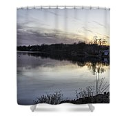 Evening Light On Lake Champlain Shower Curtain