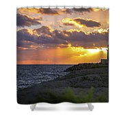 Evening Lighthouse Shower Curtain