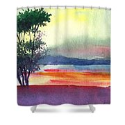 Evening Lights Shower Curtain