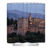 Evening Lights At The Alhambra Shower Curtain
