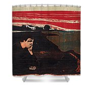 Evening. Melancholy Shower Curtain