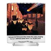 Evening On Karl Johan Street 1892 Shower Curtain