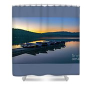 Evening On Lake Mcdonald Shower Curtain