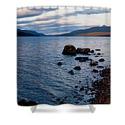 Evening On Loch Rannoch Shower Curtain