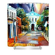 Evening On Orleans Street Shower Curtain