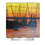 Evening On Shem Creek Shower Curtain