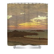 Evening On The Coast Shower Curtain