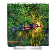 Evening On The Humber River - Paint Shower Curtain