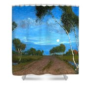 Evening On The Moor Shower Curtain