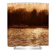 Evening On The New York Shore Shower Curtain