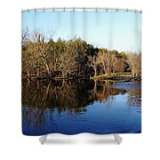 Evening On The Speed River Shower Curtain