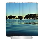 Evening On Water Shower Curtain