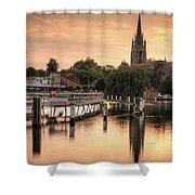 Evening Over Marlow Shower Curtain