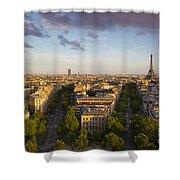 Evening Over Paris Shower Curtain