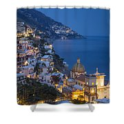 Evening Over Positano Shower Curtain