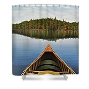 Evening Paddle  Shower Curtain