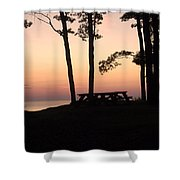Evening Picnic Shower Curtain