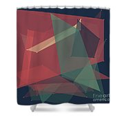 Evening Polygon Pattern Shower Curtain