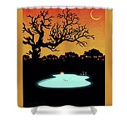Evening Pool Shower Curtain