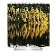 Evening Reflections On Alder Lake Shower Curtain