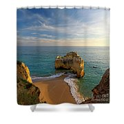 Evening Rocha Rocks Shower Curtain