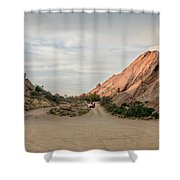 Evening Rocks By Mike-hope Shower Curtain