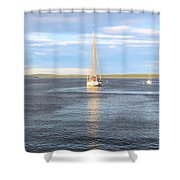 Evening Sail In Frenchman's Bay Shower Curtain