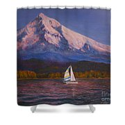 Evening Sail Shower Curtain