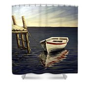 Evening Sea Shower Curtain