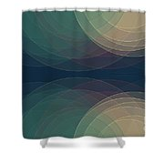Evening Semi Circle Background Horizontal Shower Curtain