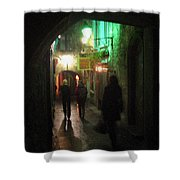 Evening Shoppers Shower Curtain