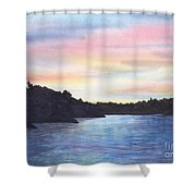 Evening Silhouette Shower Curtain