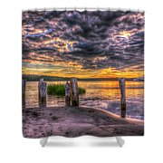 Evening Skies Shower Curtain