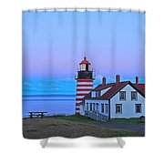 Evening Skies Of Green Shower Curtain