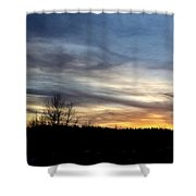 Evening Sky 1 Shower Curtain