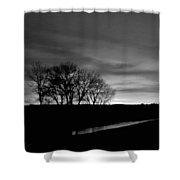 Evening Sky 6 Shower Curtain