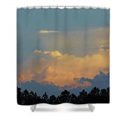 Evening Sky In Rural Florida Shower Curtain